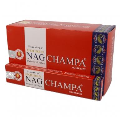 Golden Nag Champa smilkalai x 12