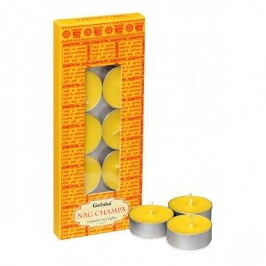 Goloka Nag Champa arbatinės žvakės 10 vnt.