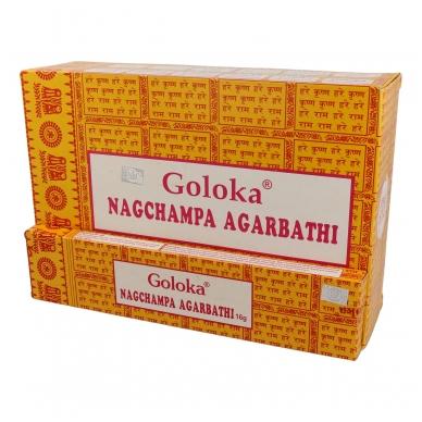 Goloka Nag Champa smilkalai x 12