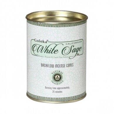 Goloka White Sage Backflow smilkalai