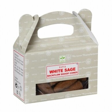 Satya White Sage Backflow smilkalai