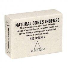 Tibetietiški White Sage kūginiai smilkalai