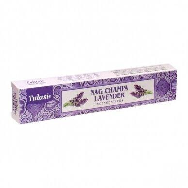 Tulasi Nag Champa Lavender smilkalai