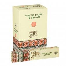 White Sage & Cedar smilkalai x 12